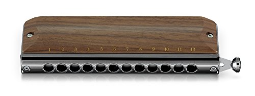 SUZUKI Chromatic Harmonica Gregore series Wooden cover model G-48W