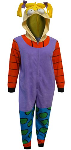 Nickelodeon Women's Rugrats Angelica Union Suit, Rugrat Purple, MEDIUM