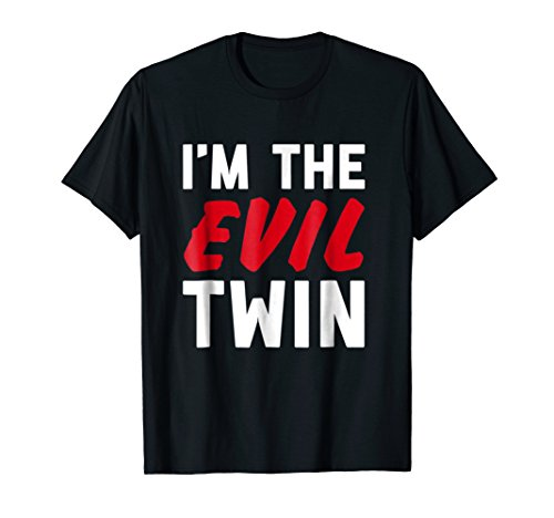 Mens Im The Evil Twin | Funny Couples Halloween Costume 2XL Black