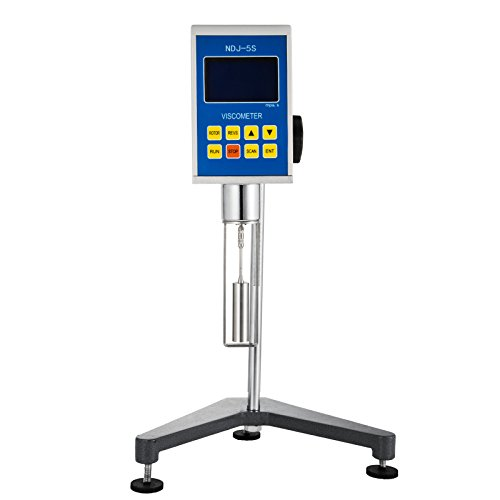 VEVOR Digital Viscometer 1~100000 mPa.s Digital Rotary Viscometer NDJ-5S Fluidimeter Tester Meter Accuracy Plus or Minus 2% Newton Liquid Viscometer Digital Portable from VEVOR