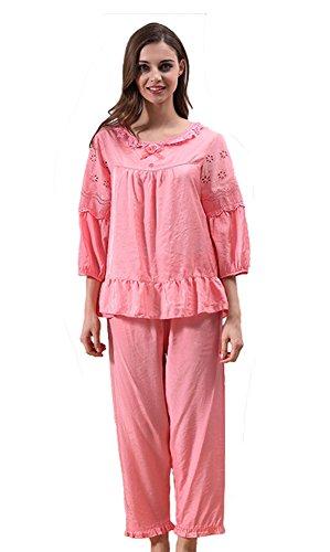 Tonwhar - Pijama - para mujer Orange Red