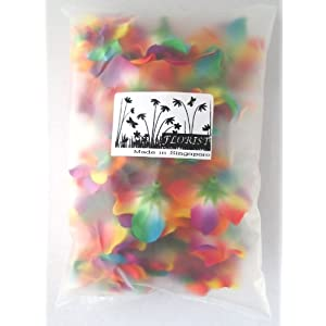 """(24) Silk Rainbow Roses Flower Head - 1.75"""" - Artificial Flowers Heads Fabric Floral Supplies Wholesale Lot for Wedding Flowers Accessories Make Bridal Hair Clips Headbands Dress 3"""