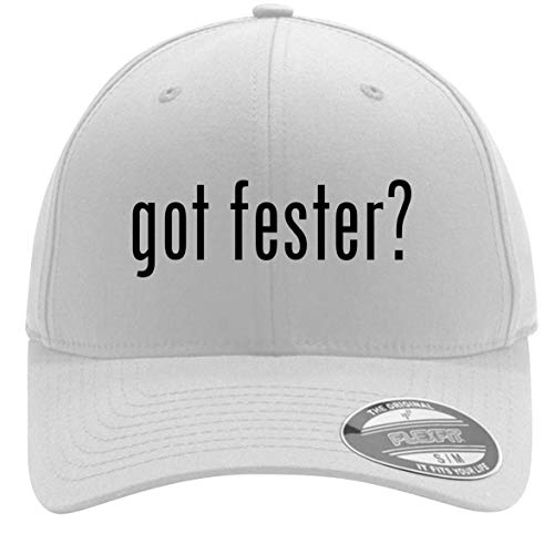 got Fester? - Adult Men's Flexfit Baseball Hat Cap, White, Small/Medium ()
