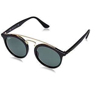 Ray-Ban New Gatsby I Round Sunglasses, Black, 49 mm