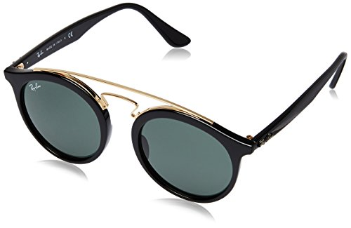 Ray-Ban New Gatsby I Round Sunglasses, Black, 49 - Ray Clubmaster Round Ban