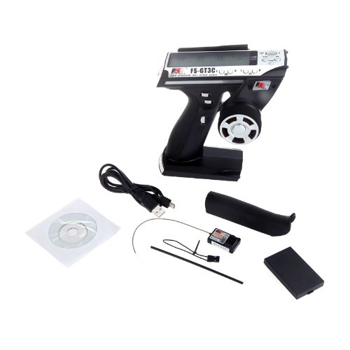 Kingzer FS-GT3C 2.4G 3CH Radio Remote Control LCD Transmitter & Receiver For RC Car Boat by KINGZER (Image #3)
