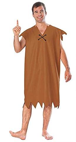 UHC Men's Animated The Flintstones Barney Rubble Fancy Dress Costume, Standard (up to 42) - Flintstone Mask