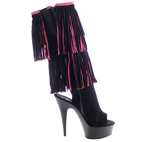 Pleaser DELIGHT-2059TT Blk-H. Pink Suede/Blk Matte Size UK 7 EU 40