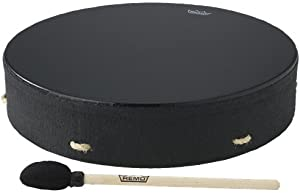 Remo Buffalo Drum - Black Earth, 16""