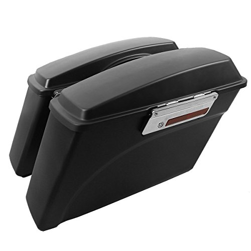 (XFMT Hard Saddlebags Bags Compatible with Harley Touring Street Electra Glide Road King 1994-2013)