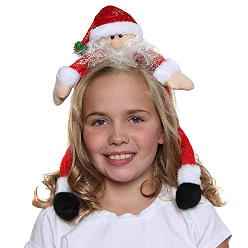 North Pole Novelties Silly Christmas Santa Claus Headband -