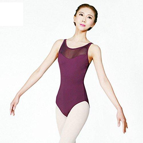 不倫構成する気絶させるバレエレオタード 練習着 体操 肩紐 キャミソール スカートなしタイプ ジュニア&大人用 Chiximaxu