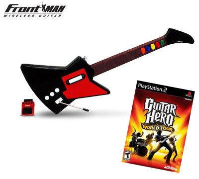 Guitar Hero World Tour for PS2 + Nyko Frontman Wireless Guitar Controller for PS2