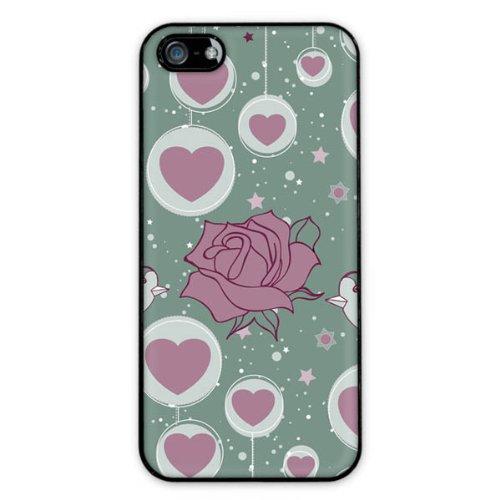 Diabloskinz H0081-0004-0071 Green-Love And Roses Schutzhülle für Apple iPhone 5/5S