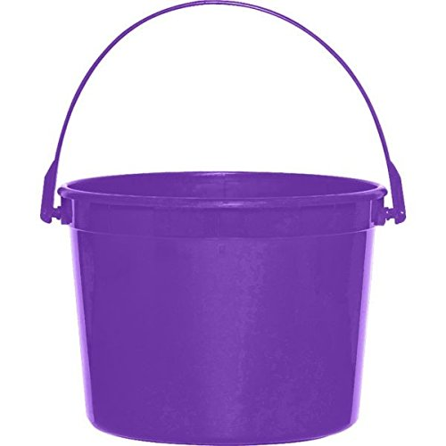 Amscan Plastic Party Favor Giveaway Bucket, New Purple, 6 1/4