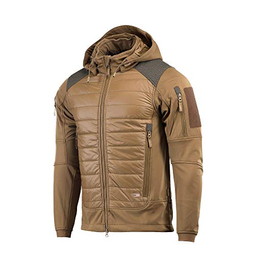 M-Tac Quilted Lightweight Tactical Jacket - Packable Puffer Jacket Men Hooded (Coyote, ()