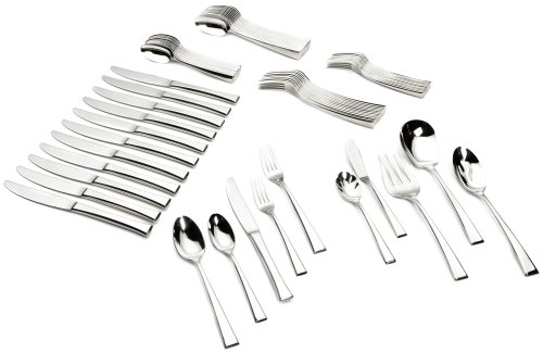 Yamazaki Epoch 65-Piece Stainless-Steel Flatware Set, Service for -