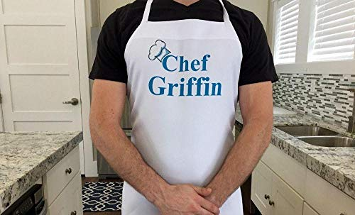 Qualtry Personalized Custom Classic Apron for Men and Women - Unique Cooking and Baking Apron, Bridal Shower Gifts (Griffin Design) ()