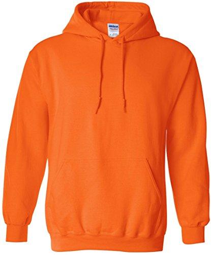 Hombre Orange Heavyweight anaranjado Sweatshirt Hooded Safety Gildan Capucha Para Sudadera Con O80qd1wx