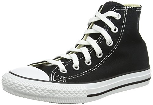 Converse Boys Youths Chuck Taylor Allstar Hi Black - 3 YTH (All Star Converse Kids)