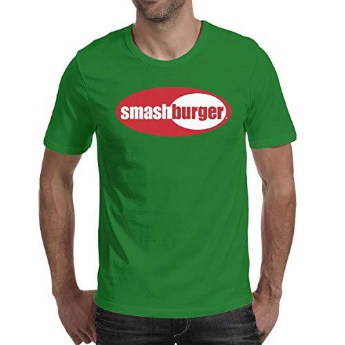 Men Smashburger Logos Short Sleeve T Shirts Loose Novelty Comfortable T-Shirt