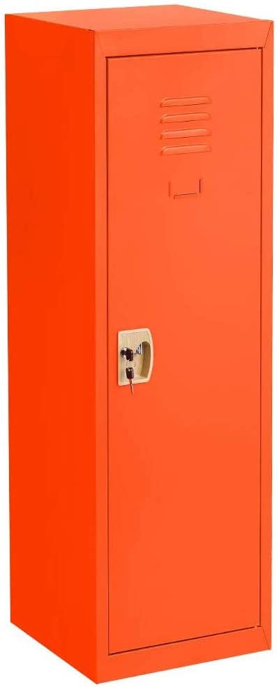 Red Storage Metal Locker with lock /& Hanging for Home and School