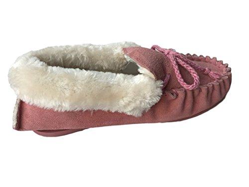 KURU Damen Hausschuhe Rosa Pink Furcuff 42
