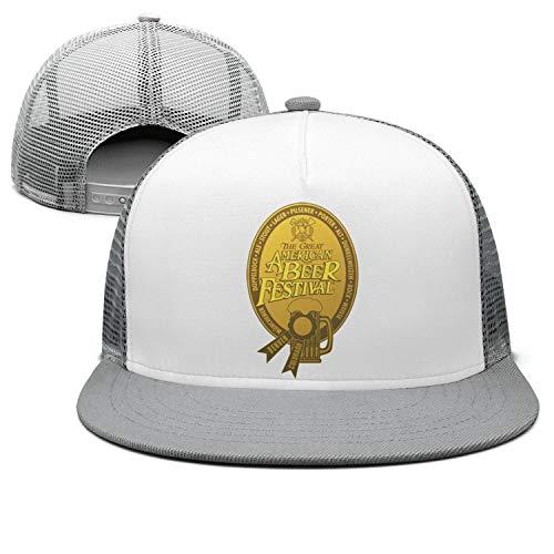 GuLuo Great American Beer Festival Gold Medal Mesh Flat Brim Baseball Cap Awesome Adjustable Summer Hat