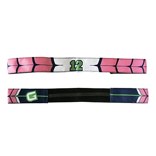 G206 Wear Seattle Slim 12th Man Wings Pink Athletic Headbands