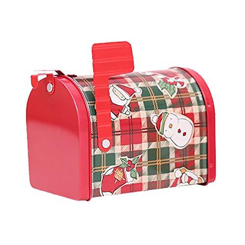 Brave669 [Christmas Decoration]-Christmas Children Kids Gift Candy Santa Mailbox Storage Box Case Decoration