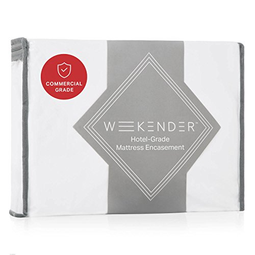 WEEKENDER Commercial-Grade Encasement Mattress Protector Protector on Amazon - Waterproof - 360 Degree Protection - High Heat Dryer Proof - Bleachable - Reinforced Seams - Full by WEEKENDER