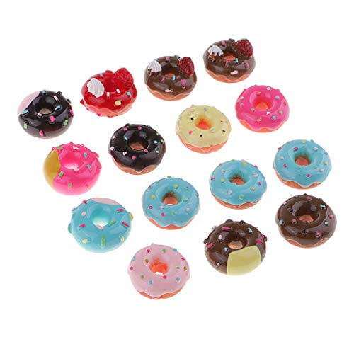 SM SunniMix Mix Colors Resin Doughnuts DIY Craft Supplies Scrapbook, Stationery Box, Phone Case, Dollhouse Ornaments, Christmas Decor