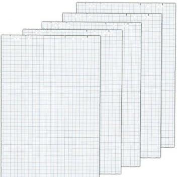 Herlitz 10834141 Flipchartblock, 68x99cm (kariert/gelocht), 5 Blöcke (20 Blatt je Block) (2, Blöcke ohne Zubehör (je 5 im Karton))