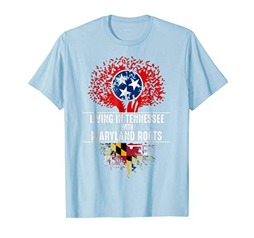 - Tennessee Home Maryland Roots State Tree Flag Shirt Gift