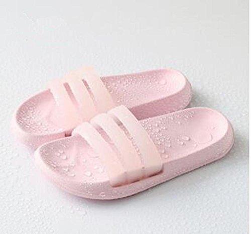 LDMB Ökologische geschmacklos rutschfeste Haushalt Bad Dusche Pantoffel 2 Paare , light pink , 42/43