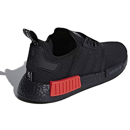 Adidas Originals Nmd R1 Shoe Men S Casual B37618 Core Black Lush Red