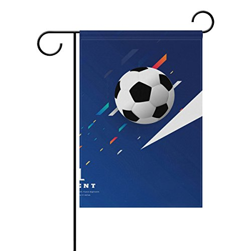 "LEISISI Stylish Soccer Game Garden flag 28""X40"" Two Sided Ya"