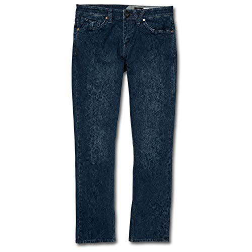 Volcom Men's Vorta Slim Fit Stretch Denim Jean, Blue Ozone, 33X32