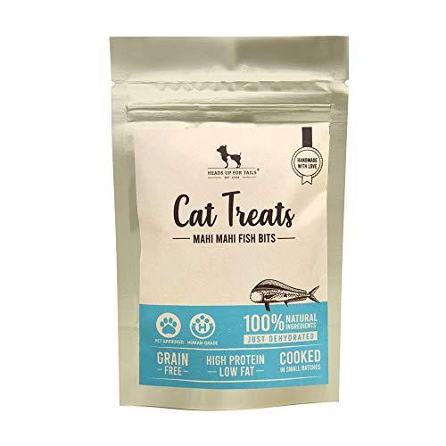 Heads Up For Tails Cat Treats - Mahi Mahi Fish Bits - 35 GMS