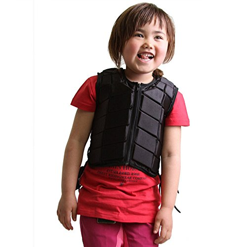 GFDHHNN Horse Riding Equestrian Kids Body Protector Safety Eventer Vest Protection Protective (Black, XS)