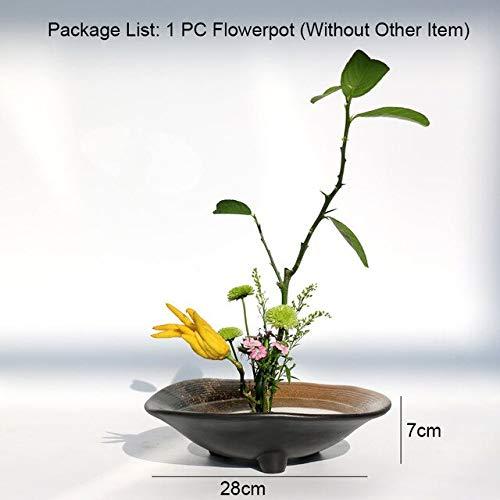 Bowl Planter - Flower Arrangement Coarse Pottery Flowerpot Vase Hydroponic Bonsai Basin Planters Snack Soup Bowl Containers Vintage Home Decor