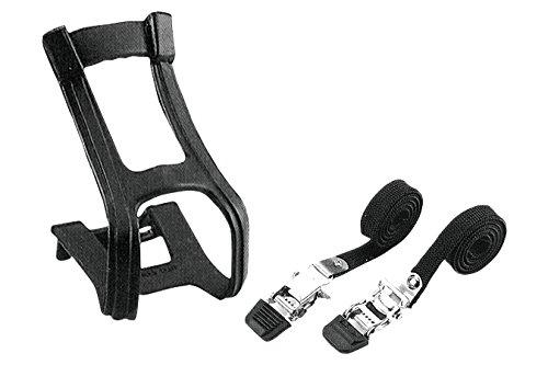 (Diamondback Toe Clip and Strap Set, Large/X-Large, Black )