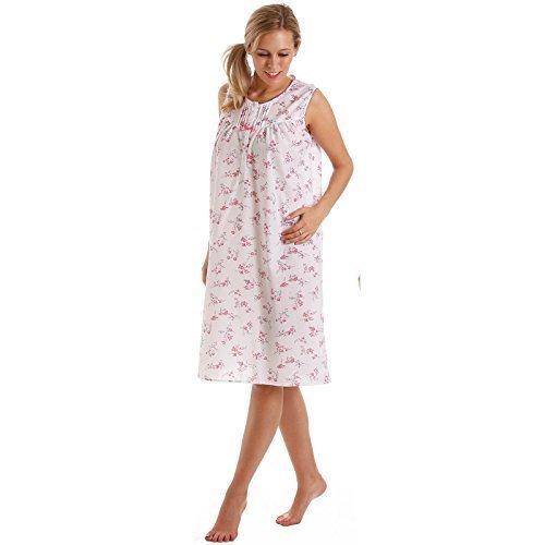 Lady OLGA Mujer Camisón Mujer Sin Manga Floral Camisón de dormir Pijama talla grande 10-