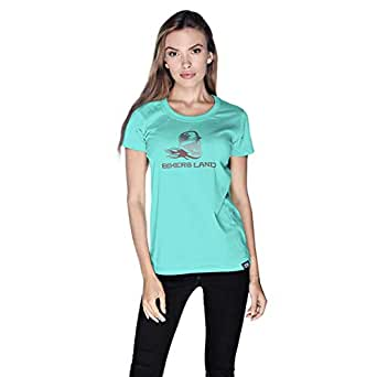 Creo Bikers Land T-Shirt For Women - S, Green