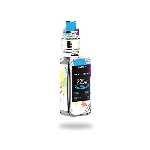 MightySkins Skin Compatible with SMOK X-Priv 225W - Splash of Color | Protective, Durable, and Unique Vinyl Decal wrap Cover | Easy to Apply, Remove, and Change Styles | Made in The USA