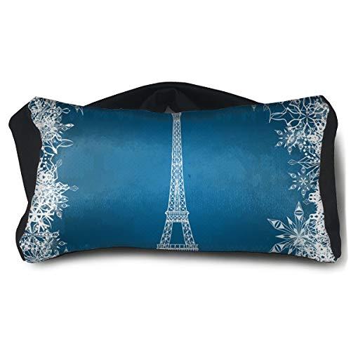 Shiv Snow (Portable Eye Pillow Sleep Eye Mask Pillow Eiffel Tower Snowflakes Pillow Masks for Home Office Outdoor Travel 15 X25 cm)