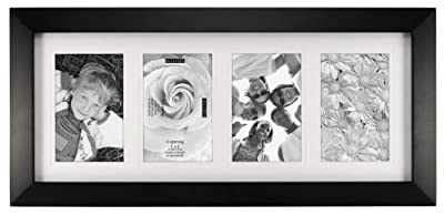 Malden International Designs 3-Opening Berkeley Beveled Edge Wood Collage Picture Frame