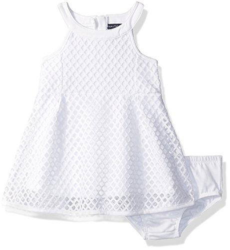 Nautica Girls Sleeveless Jacquard Dress