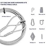 Windscreen4less Wood Anchor with 6ft One-Way Wire Lock Wire Cable for Rectangle and Square Shade Sail Installation Create Tension