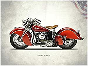 Photo Block Harley Davidson Landscape Tableau 60cmx 40cm - 2724819993053